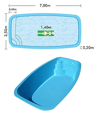 Acquasul piscinas for Piscina 7x3